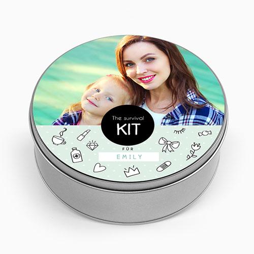 Blechdose mit Foto - Survival Kit  53522