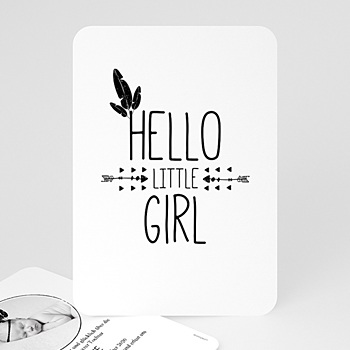 Geburtskarten für Mädchen - Little Girl - 0
