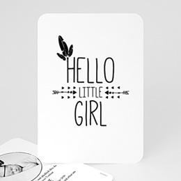 Karten Geburt Little Girl