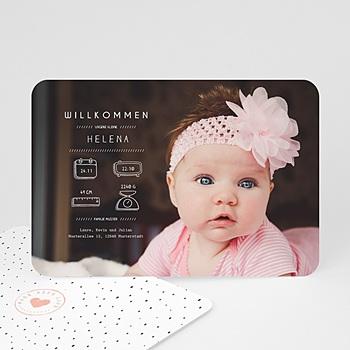 Geburtskarten für Mädchen - Präsentation - 0