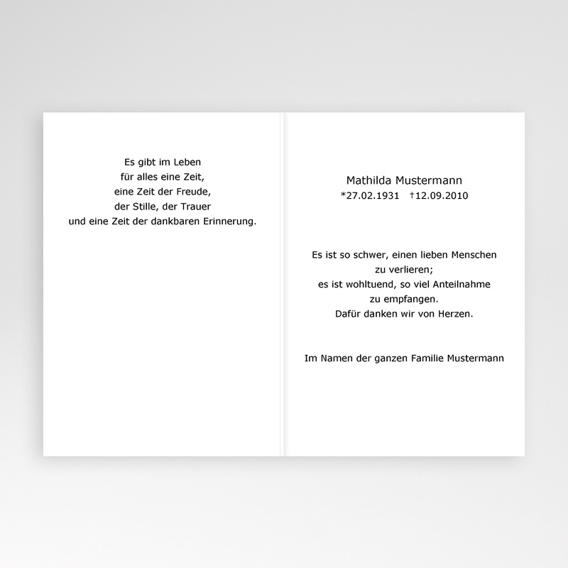 Trauer Danksagung christlich - Ornament 5356 thumb