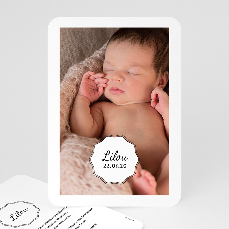 Geburtskarten für Mädchen Vintage Look Girl