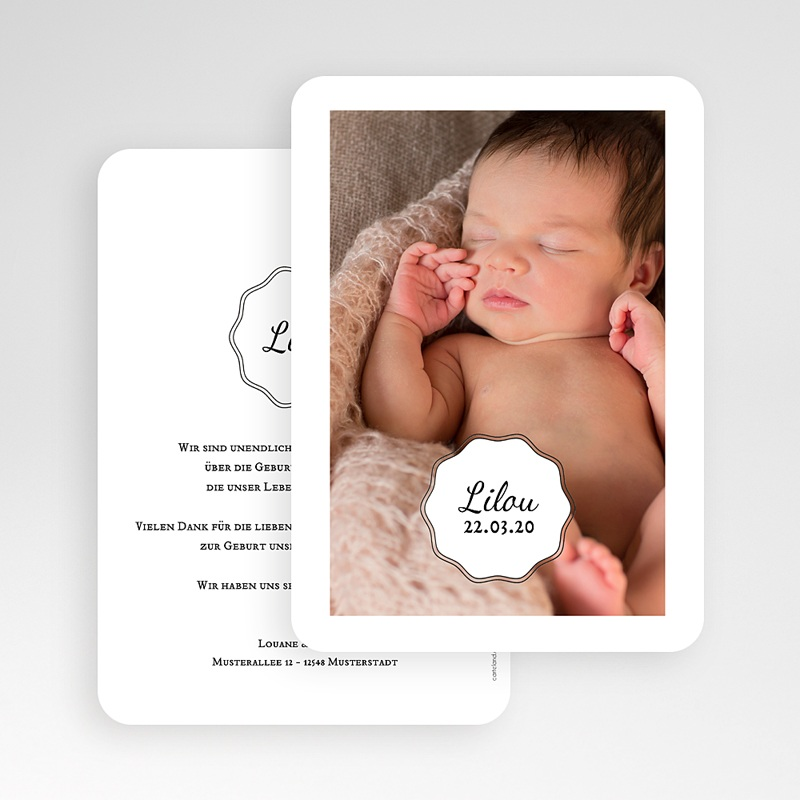 Geburtskarten für Mädchen Vintage Look Girl gratuit