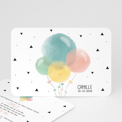 Geburtskarten für Mädchen Luftballons Pastell