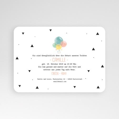Geburtskarten für Mädchen Luftballons Pastell pas cher