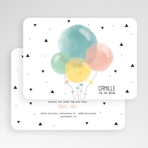 Geburtskarten für Mädchen Luftballons Pastell gratuit