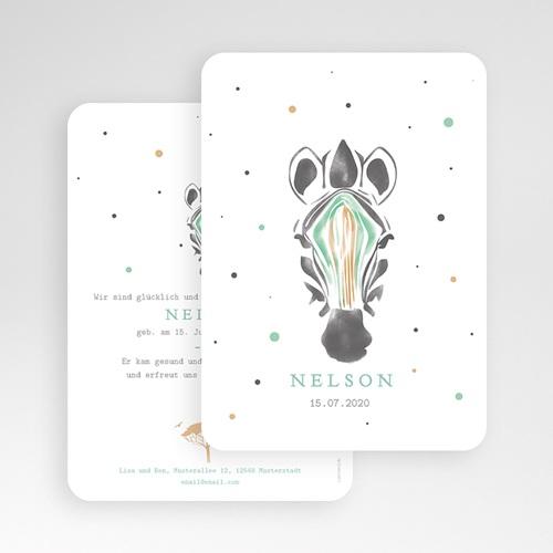 Geburtskarten für Jungen Kleines Zebra gratuit