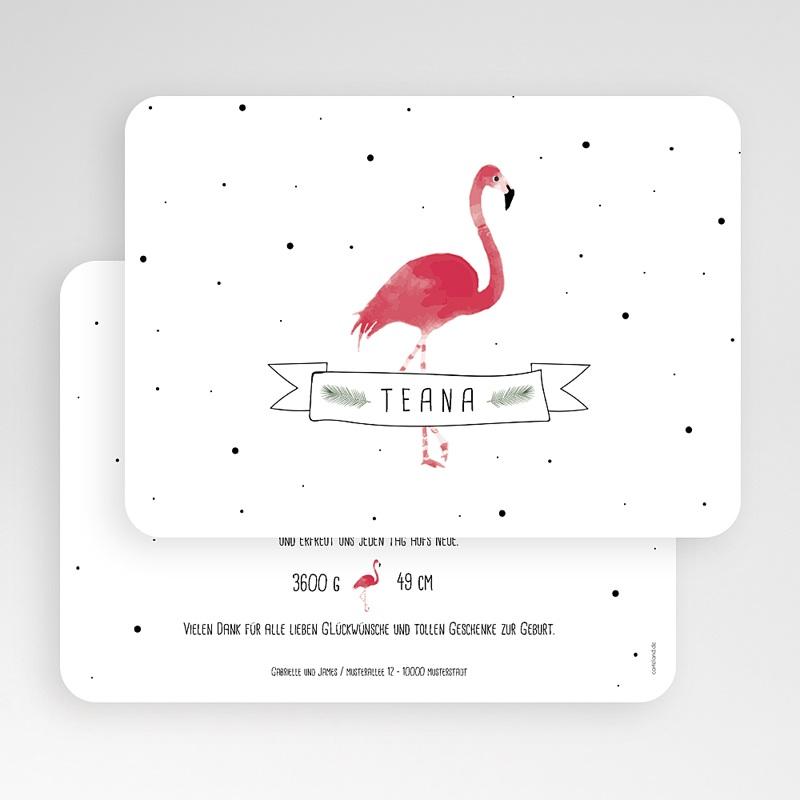 Geburtskarten für Mädchen Flamingo exotisch gratuit