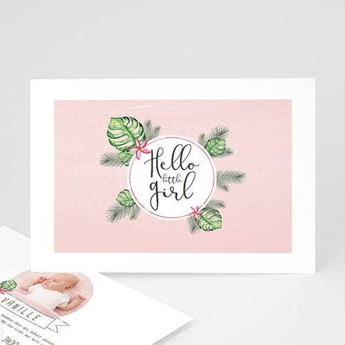Geburtskarten für Mädchen - Tropische Blüten 53608