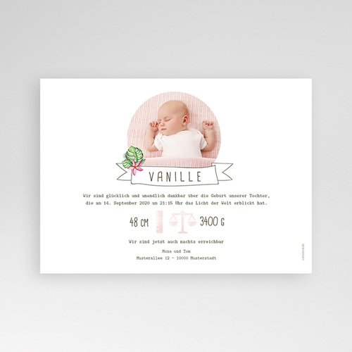 Geburtskarten für Mädchen - Tropische Blüten 53609 preview