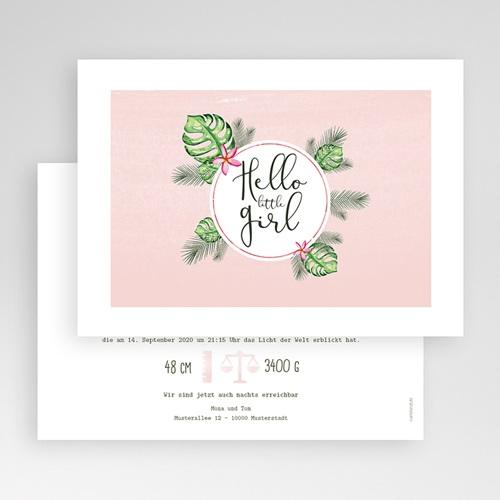Geburtskarten für Mädchen - Tropische Blüten 53610 preview
