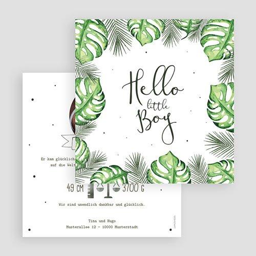 Babykarten für Jungen - Tropische Pflanzen 53619 preview