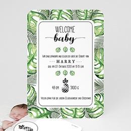 Geburtskarten für Jungen Tropisches Grün