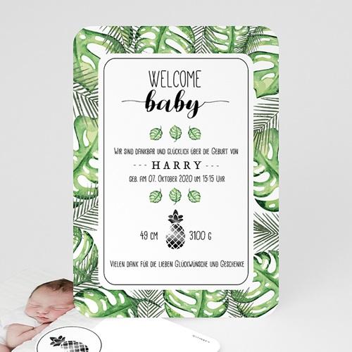 Babykarten für Jungen - Tropisches Grün 53635