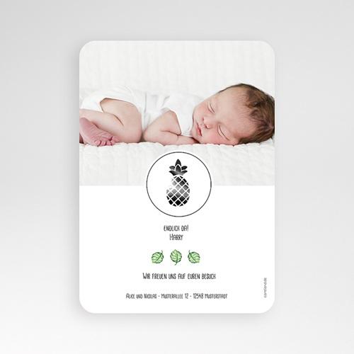 Geburtskarten für Jungen - Tropisches Grün 53636 test