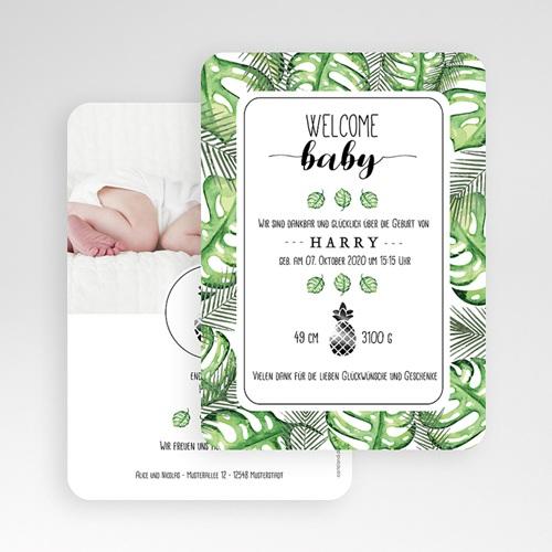 Geburtskarten für Jungen - Tropisches Grün 53637 test