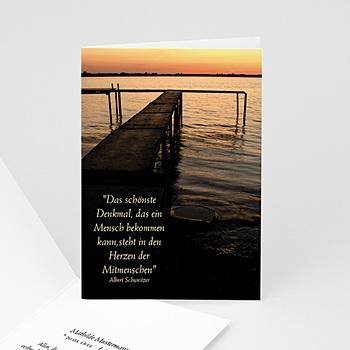 Trauer Danksagung weltlich - Trauerkarte See - 1