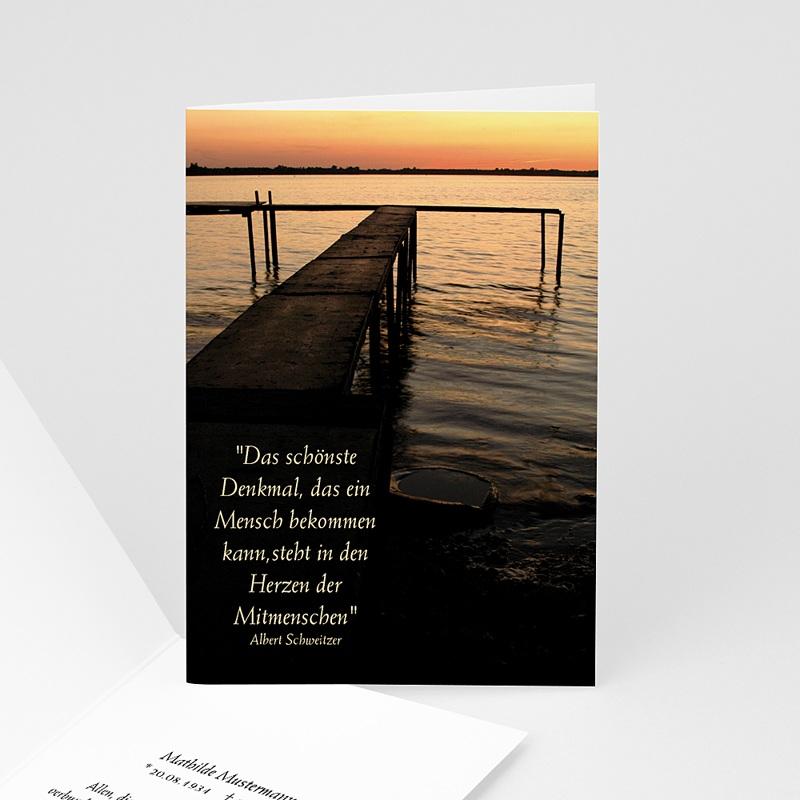 Weltlich Dankeskarten Trauer See