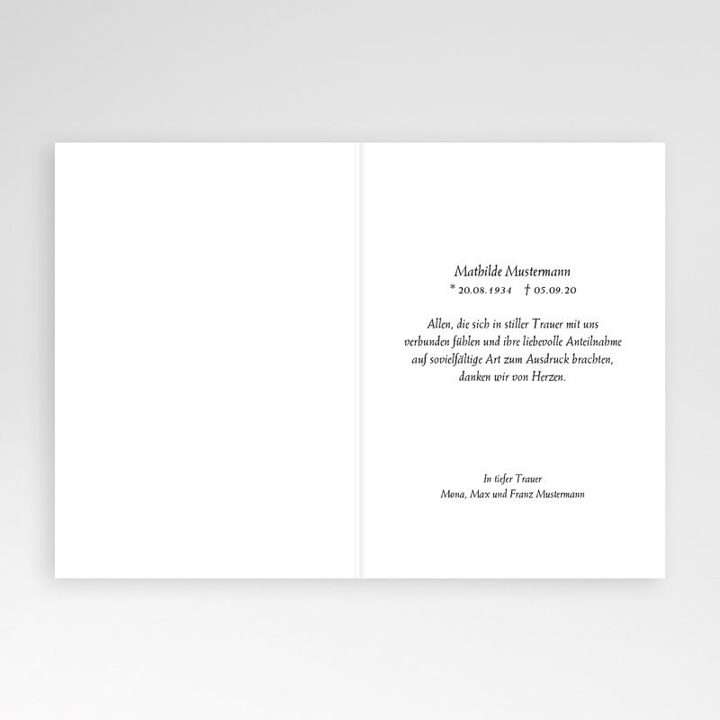 Weltlich Dankeskarten Trauer See pas cher