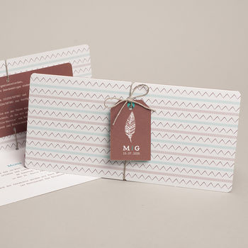 Kreative Hochzeitskarten - Boho Tribal - 0