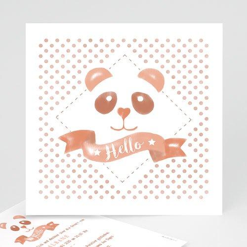 Geburtskarten für Mädchen - Panda Aquarell 53740