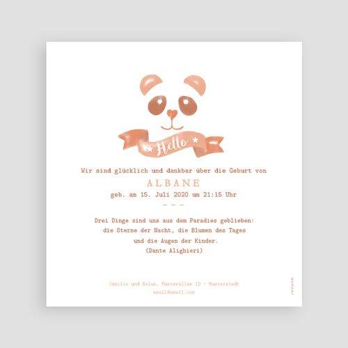 Geburtskarten für Mädchen - Panda Aquarell 53741 preview