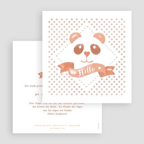 Geburtskarten für Mädchen - Panda Aquarell 53742 preview