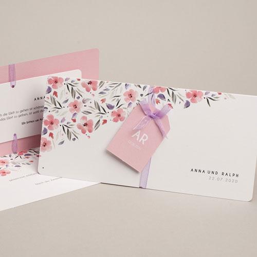 Einladungskarten Naturhochzeit  - Floral chic 53749 test