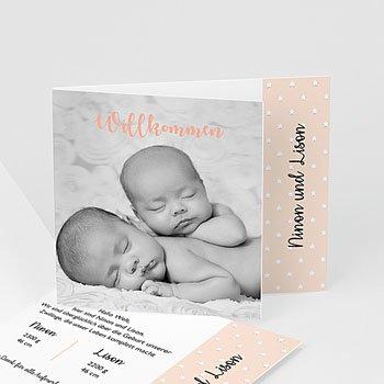 Geburtskarten für Mädchen - Kleiner rosa Stern - 1
