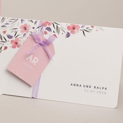 Einladungskarten Naturhochzeit  - Floral chic 53750 test