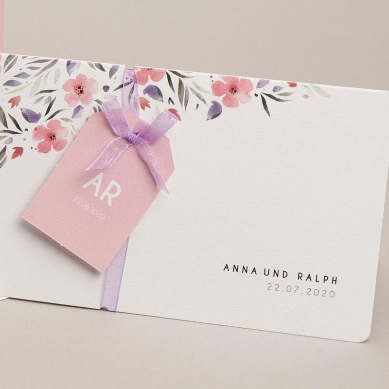 Hochzeitseinladungen Floral chic pas cher