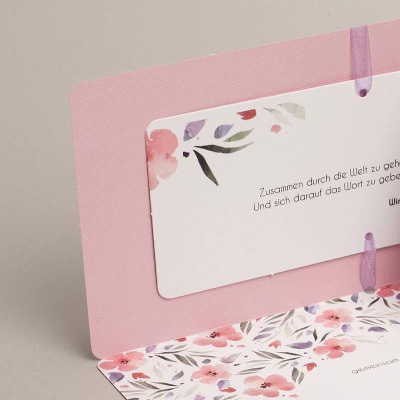 Hochzeitseinladungen Floral chic gratuit