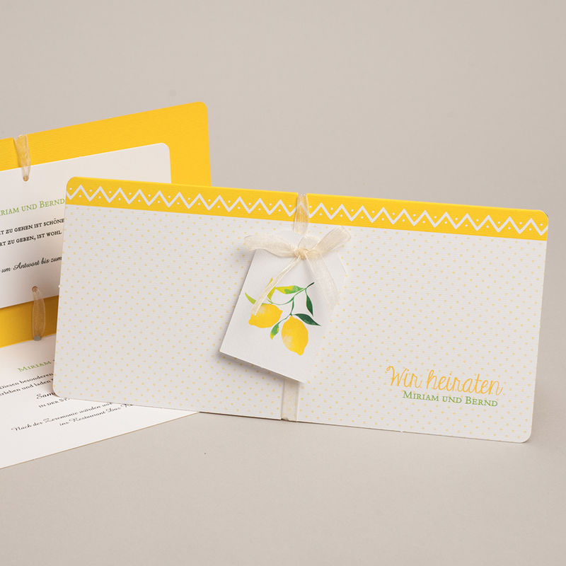 kreative hochzeitskarten lemon wedding. Black Bedroom Furniture Sets. Home Design Ideas