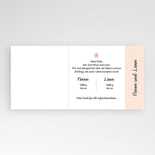Geburtskarten für Mädchen Kleiner rosa Stern pas cher