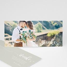 Danksagungskarten Hochzeit  Schriftzug