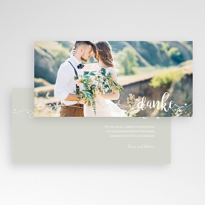 Danksagungskarten Hochzeit  Schriftzug pas cher