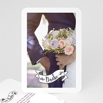 Danksagungskarten Hochzeit  - Danke Vintage - 0