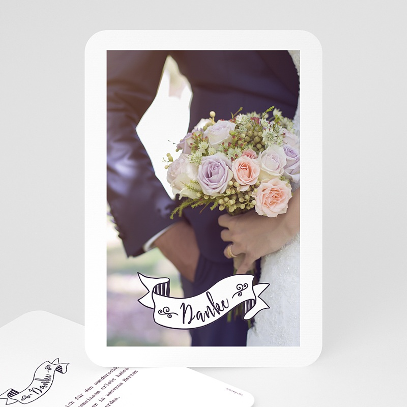 Danksagungskarten Hochzeit  Danke Vintage