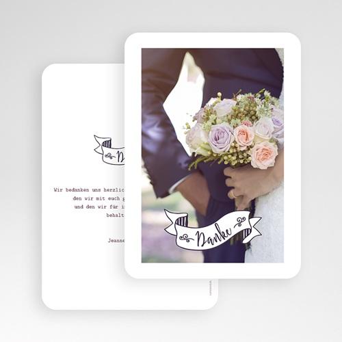 Danksagungskarten Hochzeit  Danke Vintage gratuit