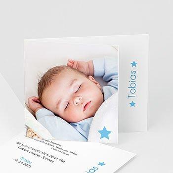 Geburtskarten für Jungen Kleiner blauer Stern