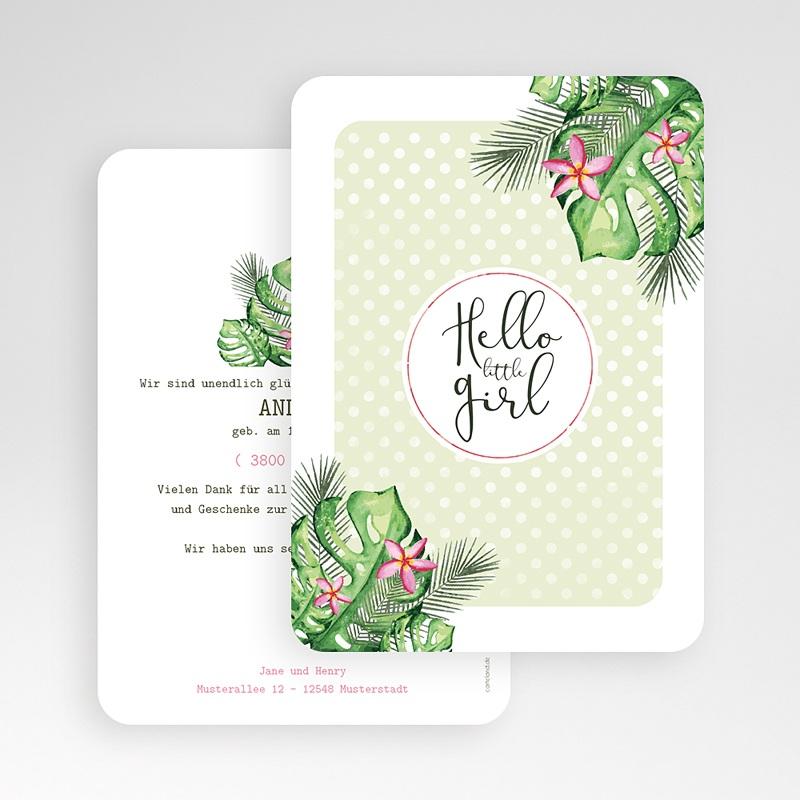 Geburtskarten für Mädchen Tropisch gratuit