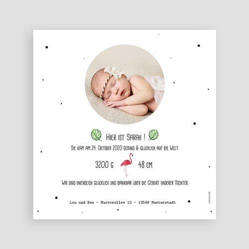 Geburtskarten für Mädchen - Rosaflamingo 53799 preview