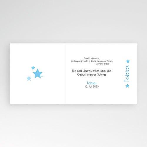 Geburtskarten für Jungen - Kleiner blauer Stern 5380 thumb
