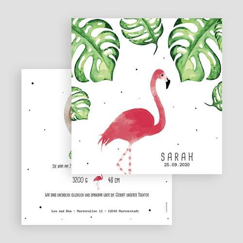 Geburtskarten für Mädchen - Rosaflamingo 53800 preview