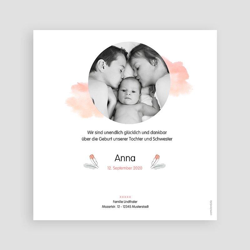 Geburtskarten für Mädchen Pinguin rosa pas cher