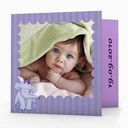 Karten Elefant in Violett