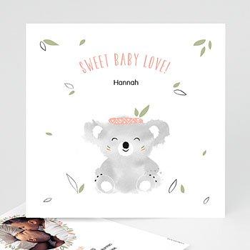 Geburtskarten für Mädchen - Koala Baby - 0