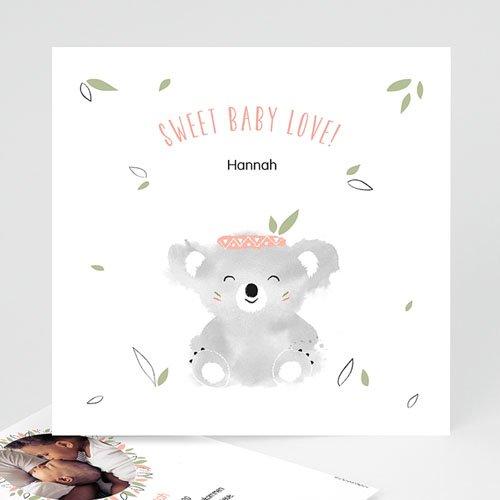 Geburtskarten für Mädchen Koala Baby