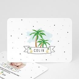 Karten Geburt Palmen & Ananas