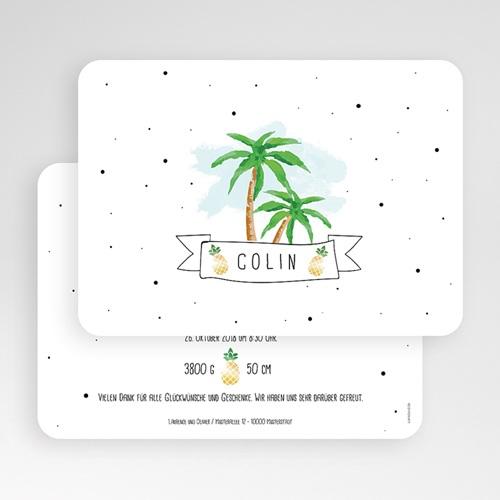 Babykarten für Jungen - Palmen & Ananas 53844 test
